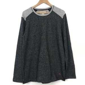 Tommy Bahama Soft Raglan Sweater Marlin Grey Sz L